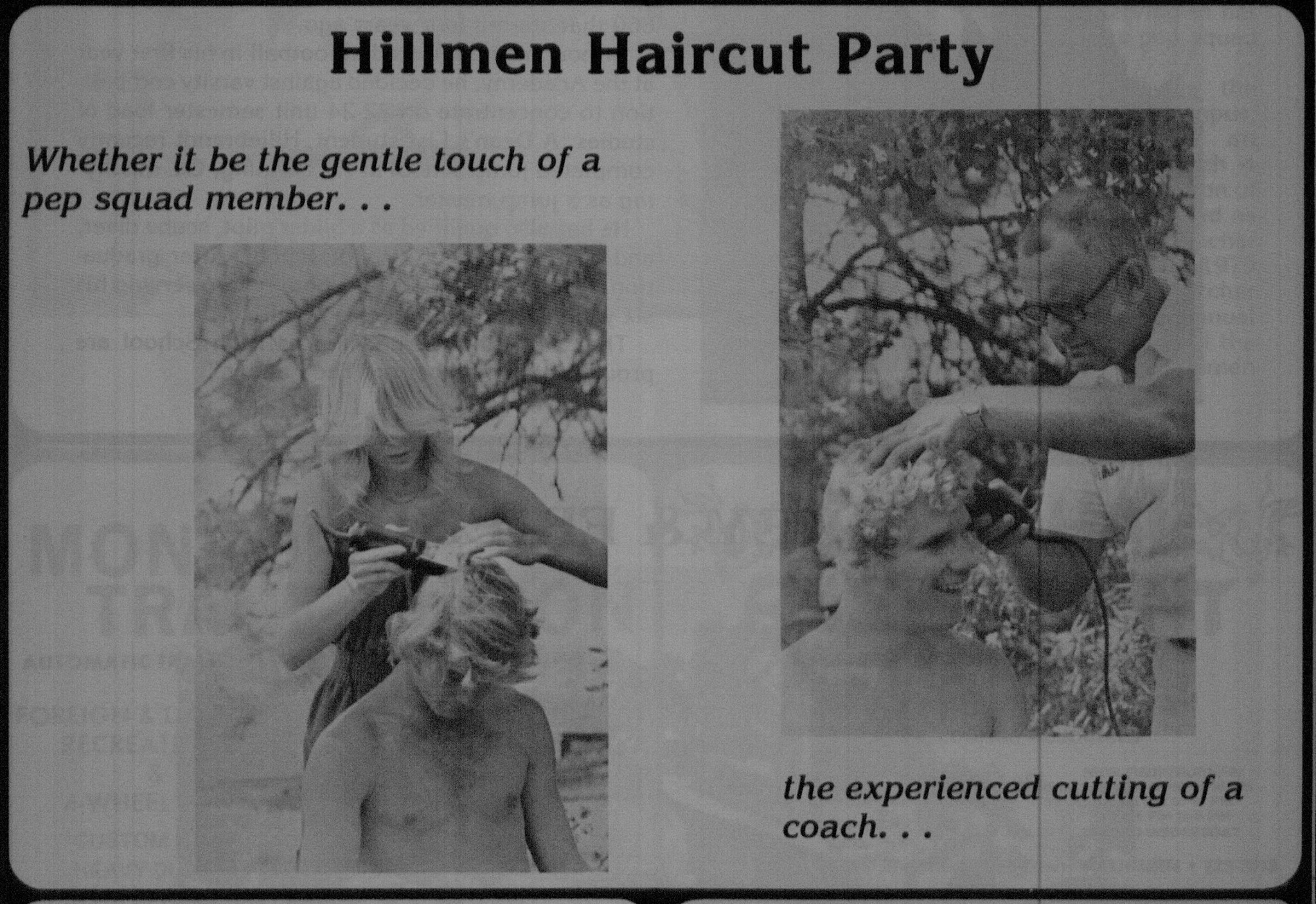 Haircut party in the summer of 1980
