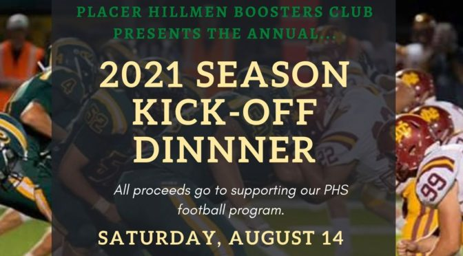 2021 Kickoff Dinner: August 14, 6 pm! Tickets on-sale now!